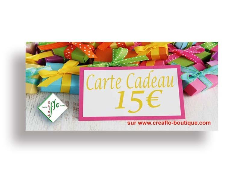 La Carte Cadeau CréaFlo 15 €