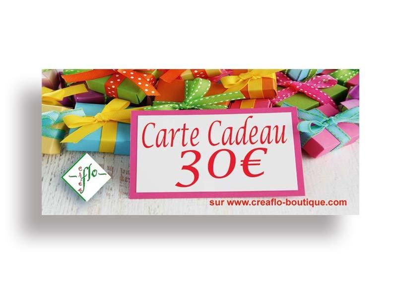 La Carte Cadeau CréaFlo 30 €