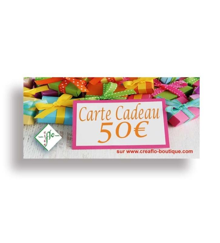 La Carte Cadeau CréaFlo 50 €