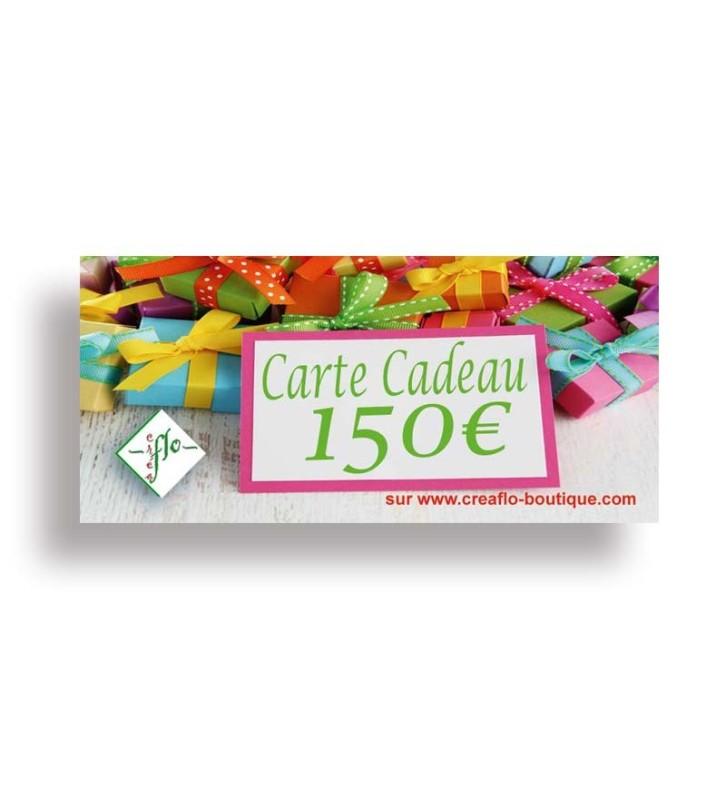 La Carte Cadeau CréaFlo 150 €