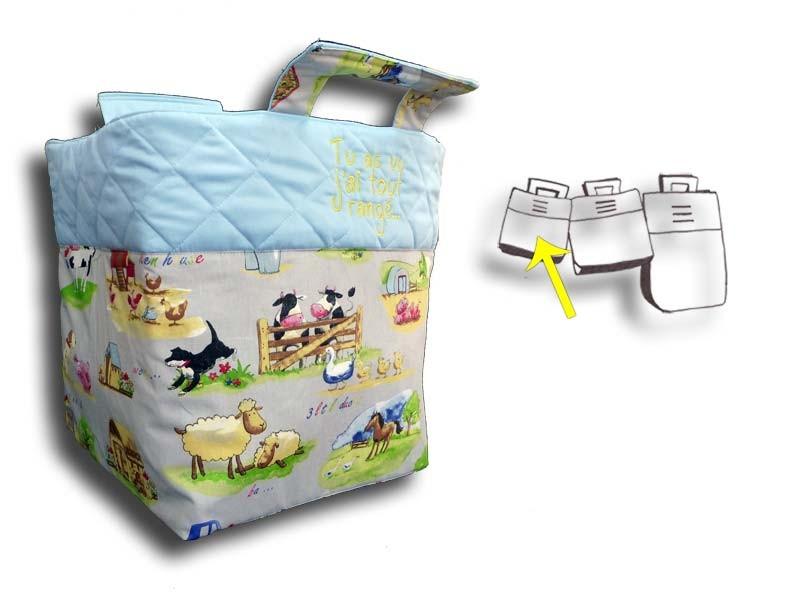 Petit sac à jouets personnalisé - Motif Campagne