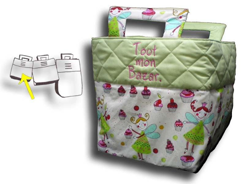 Petit sac à jouets personnalisé - Motif Fée verte