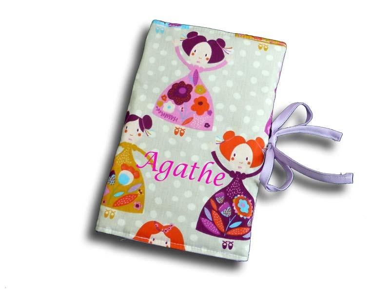 Protège carnet de santé personnalisé - Motif Princesse