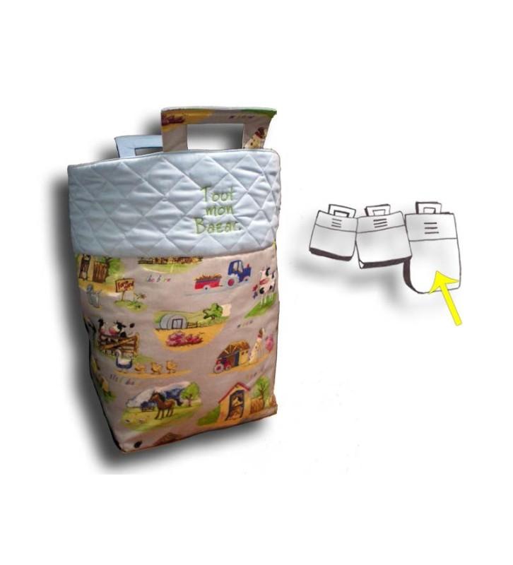 grand sac jouets gar on motif campagne cr aflo. Black Bedroom Furniture Sets. Home Design Ideas