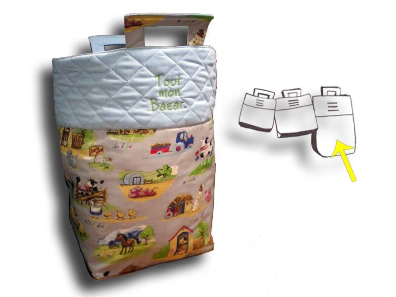 Grand sac à jouets Garçon - Motif Campagne