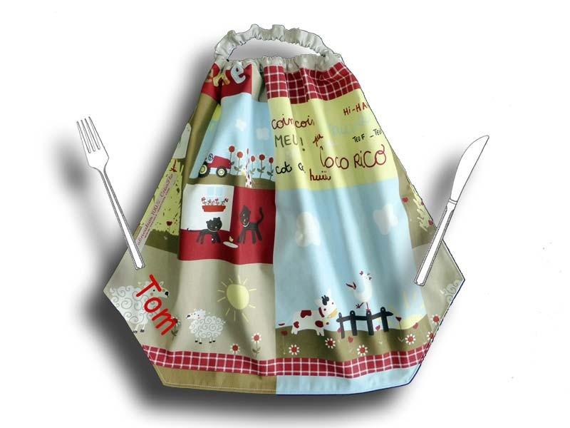 Grande serviette de Table Maternelle - La Ferme Beige
