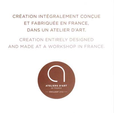 Créations CréaFlo intégralement conçue et fabriquée en France dans un Atelier d'Art