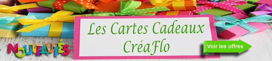 Avec la Carte Cadeau offrez de la Couleur et du Bonheur : 15 €, 30 €, 50 €, 75 €, 100 € et 150 € pour toutes les occasions.